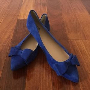 Royal Blue Suede Flats